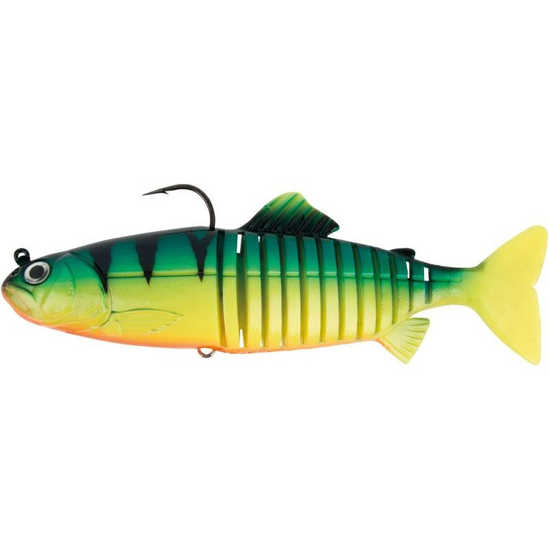 LEURRE SOUPLE ARME FOX RAGE JOINTED REPLICANT - 18CM - Fire Tiger