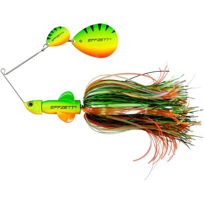 Lures Effzett PIKE RATTLIN' SPINNERBAIT 43G FIRETIGER