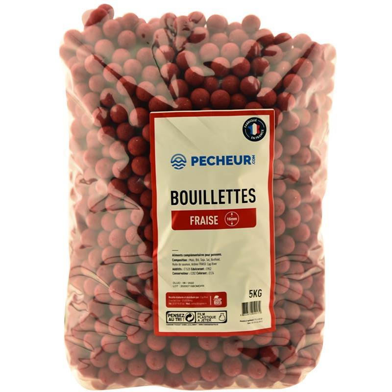Baits & Additives Pecheur.com PECHEUR.COM BY CAP RIVER BOUILLETTE FRAISE 16MM