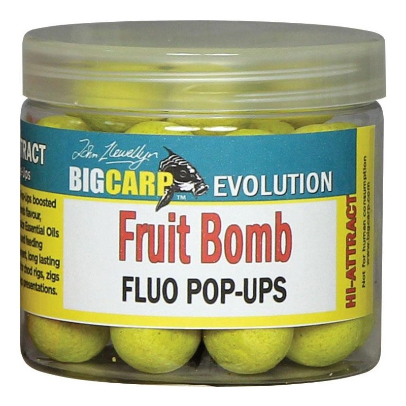 Baits & Additives Big Carp POP UP FLUO FRUIT BOMB 15MM
