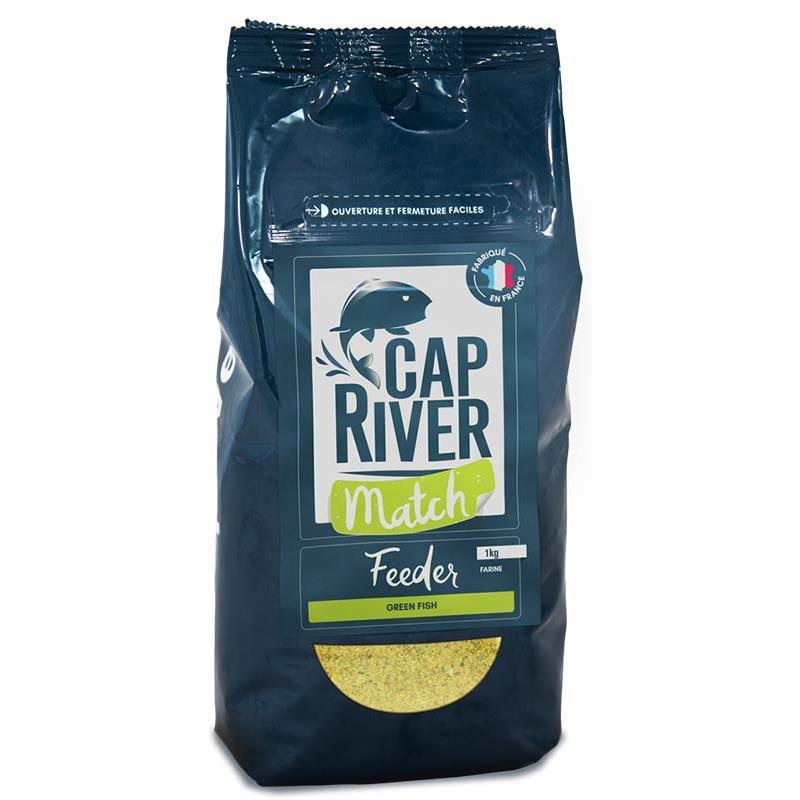 Appâts & Attractants Cap River FEEDER MATCH GREEN FISH