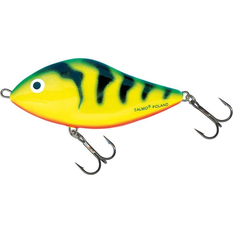 LEURRE COULANT SALMO SLIDER SINKING - 12CM - Green Tiger