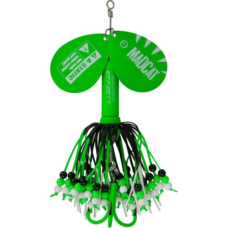 Lures Mad Cat A STATIC RATTLIN' TEASER SPINNERS 75G GREEN