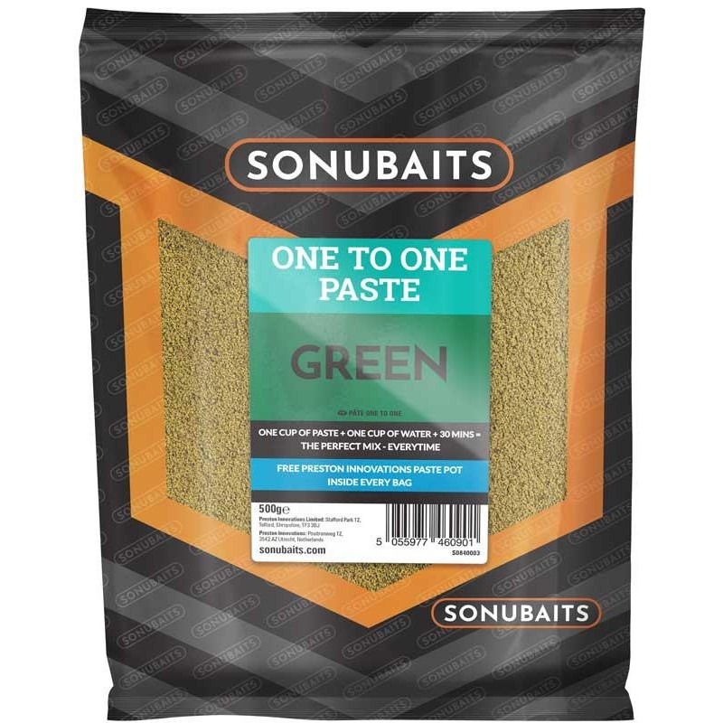 Baits & Additives Sonubaits ONE TO ONE PASTE GREEN