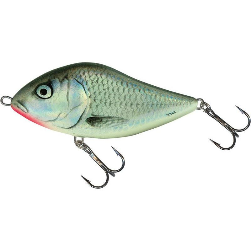 LEURRE COULANT SALMO SLIDER SINKING - 12CM - Holographic Grey Shiner