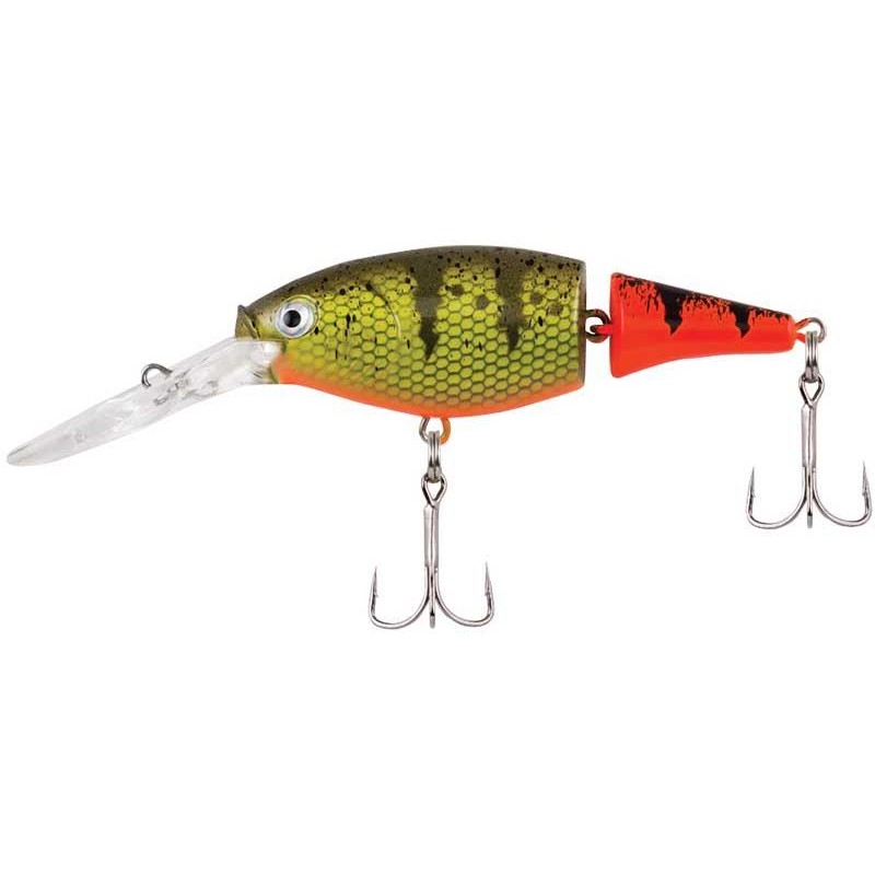 FLICKER SHAD JOINTED FIRE TAIL 5CM HOT PERCH