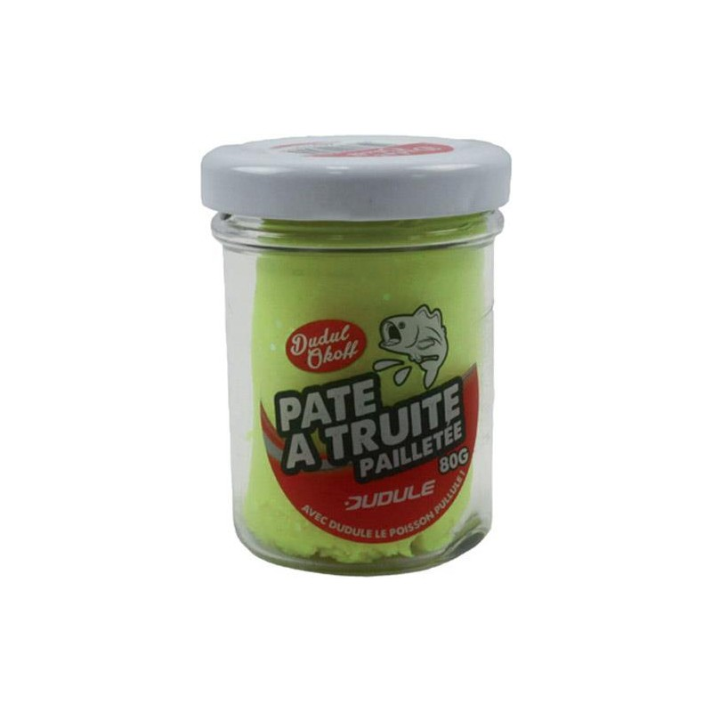Baits & Additives Dudule PATE A TRUITE PAILLETEE JAUNE