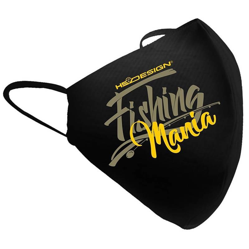 MASQUE DE PROTECTION HOT SPOT DESIGN FISHING MANIA - Jaune