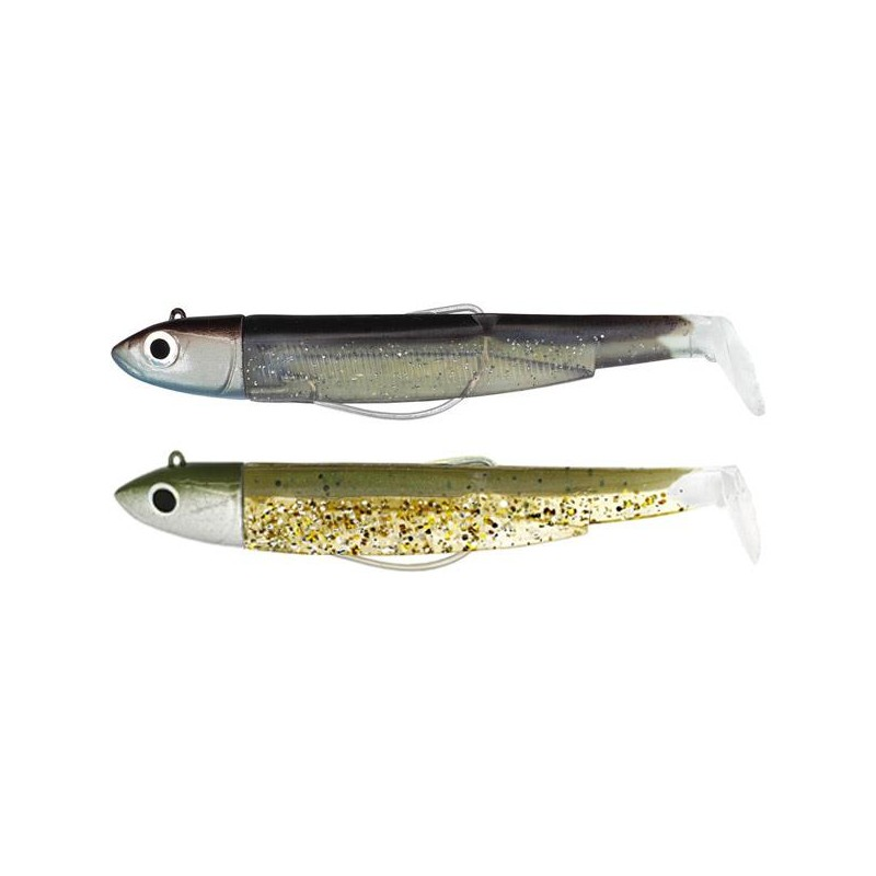 DOUBLE COMBO BLACK MINNOW 90 + TETE PLOMBEE OFF SHORE KAKI PAILLETE SEXY BROWN - KAKI PAILLETE - SEXY BROWN