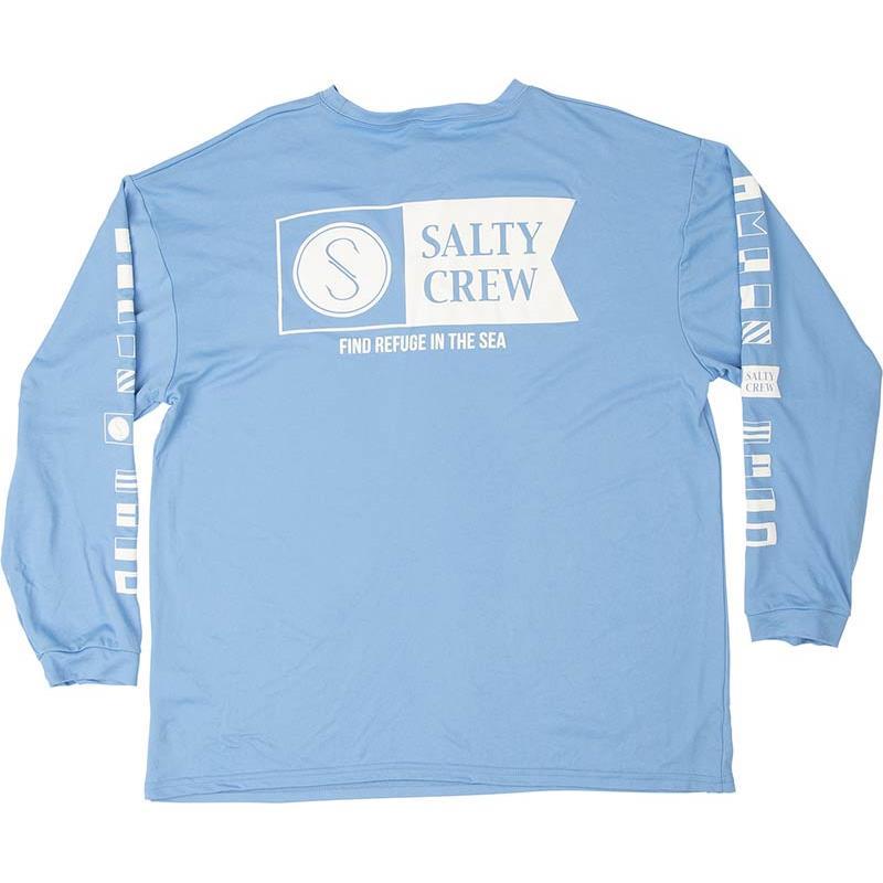 Apparel Salty Crew ALPHA L/S TECH TEE BLEU