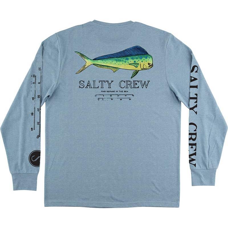 Apparel Salty Crew ANGRY BULL TECH LS TECH TEE BLEU M