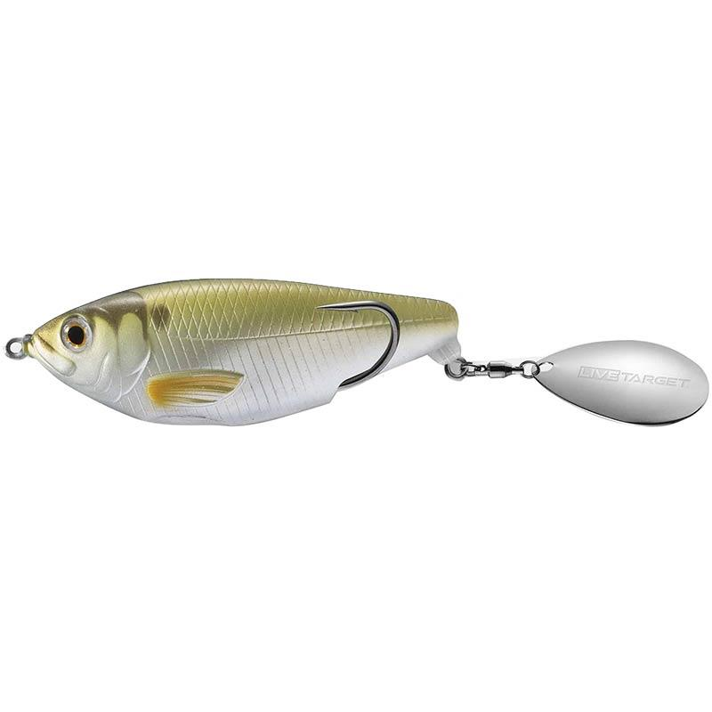 Lures Livetarget COMMOTION SHAD HOLLOW 9CM METTALIC MOSS