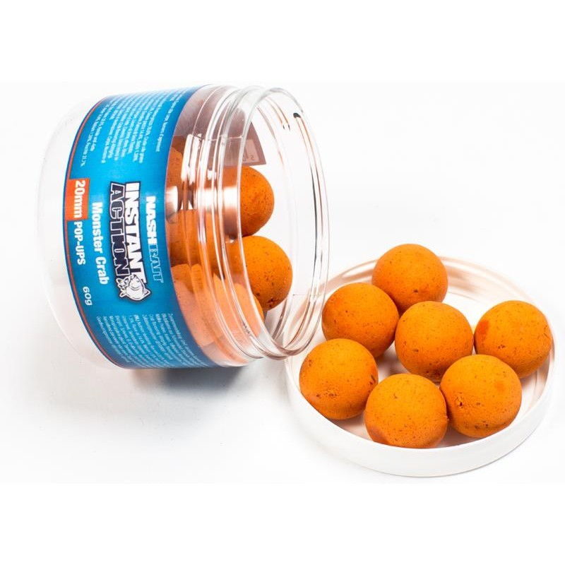 Baits & Additives Nashbait INSTANT ACTION POP UPS 20MM MONSTER CRAB