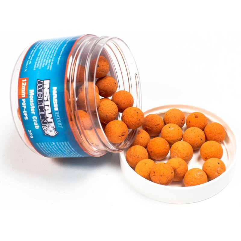 Baits & Additives Nashbait INSTANT ACTION POP UPS 12MM MONSTER CRAB