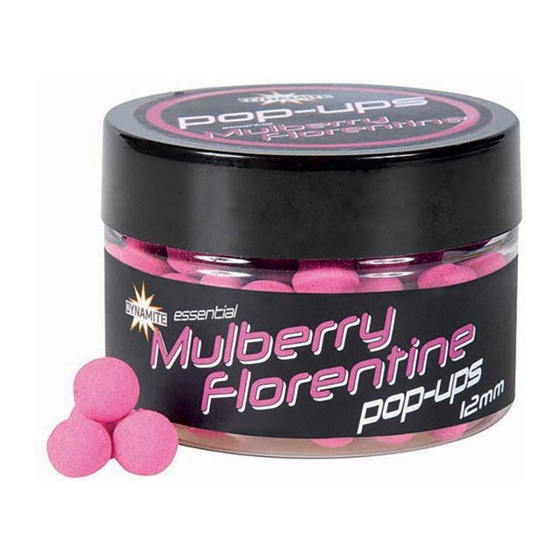 Baits & Additives Dynamite Baits FLURO POP UPS MULBERRY FLORENTINE 12MM