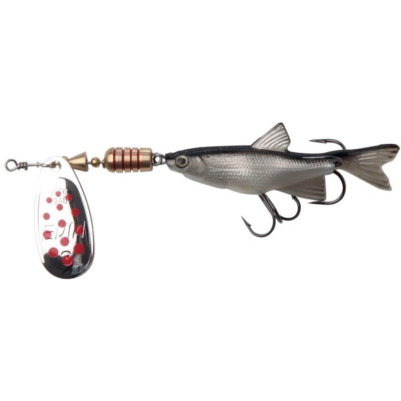 Lures Evia MINNOW MOD 11BIS NATUREL ARGENT POINTS ROUGES N°1 - ARGENT-ROUGE
