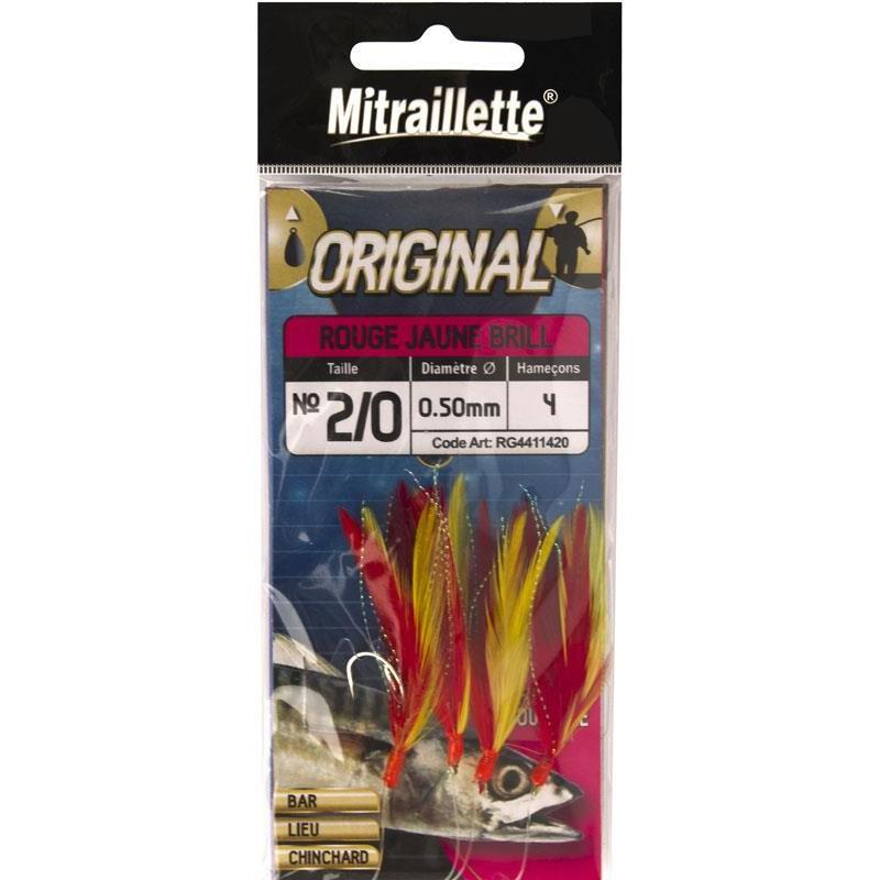Lines Ragot MITRAILLETTE ORIGINAL INOX N°2/0 60/100 ROUGE/JAUNE
