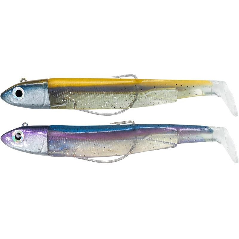 LEURRE SOUPLE ARME FIIISH DOUBLE COMBO BLACK MINNOW 120 + TETE PLOMBEE OFF SHORE