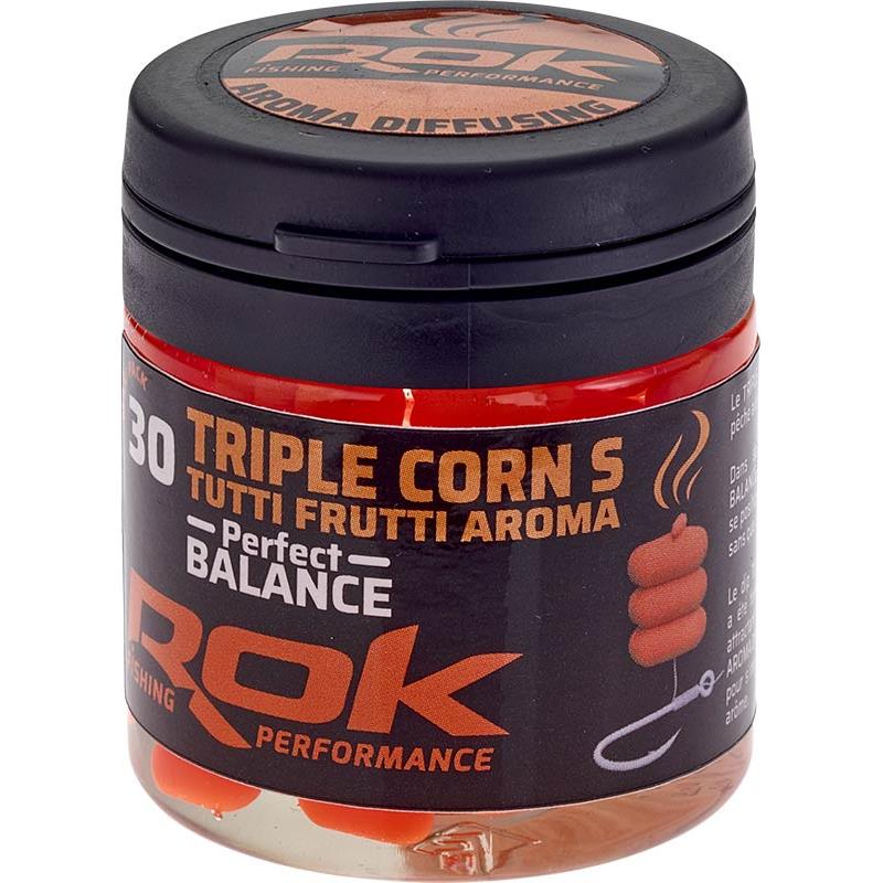 Baits & Additives Rok Fishing TRIPLE CORN S PERFECT BALANCE MAIS ARTIFICIEL + TREMPAGE ORANGE
