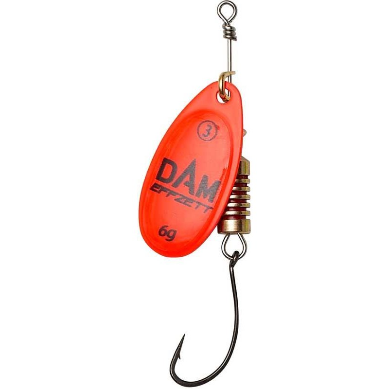 Lures Effzett CUILLER TOURNANTE AVEC HAMECON SIMPLE 4G RED