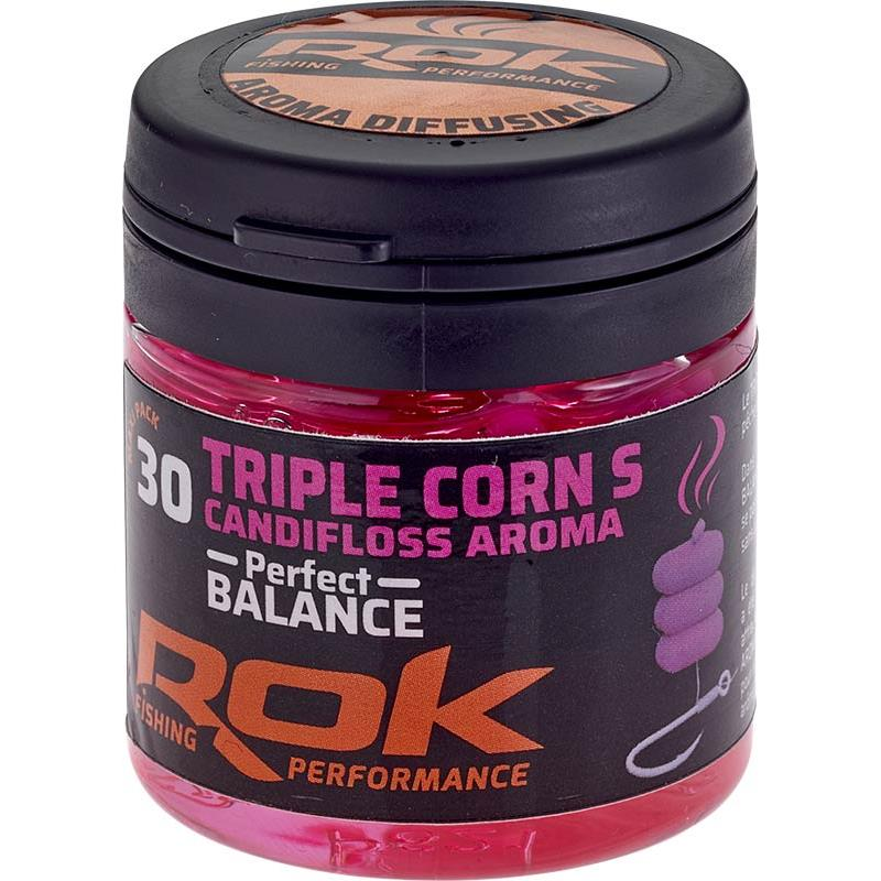 Baits & Additives Rok Fishing TRIPLE CORN S PERFECT BALANCE MAIS ARTIFICIEL + TREMPAGE ROSE