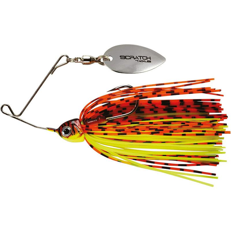Lures Scratch Tackle MICRO SPINNER ALTERA MICRO 7G ROUGE FIRE TIGER