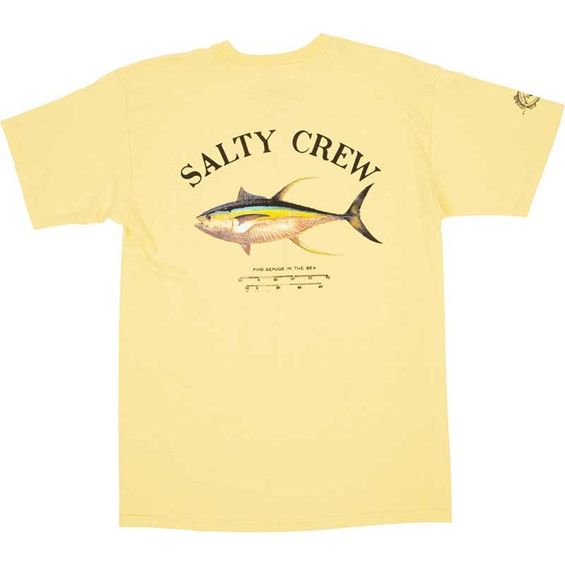 TEE SHIRT MANCHES COURTES HOMME SALTY CREW AHI MOUNT S/S TEE - JAUNE