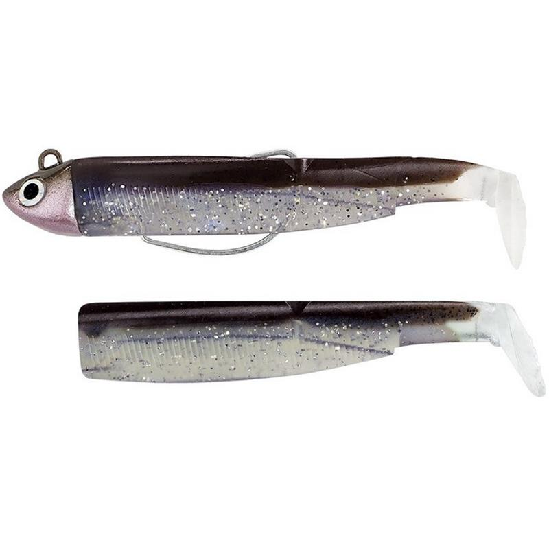 Lures Fiiish COMBO BLACK MINNOW 90 + TETE PLOMBEE SHORE SEXY BROWN
