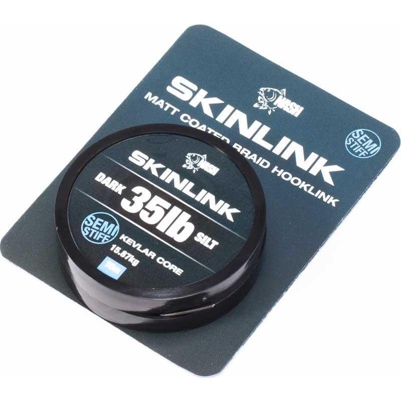 TRESSE A BAS DE LIGNE NASH SKINLINK SEMI-STIFF - 10M - Silt - 35lbs