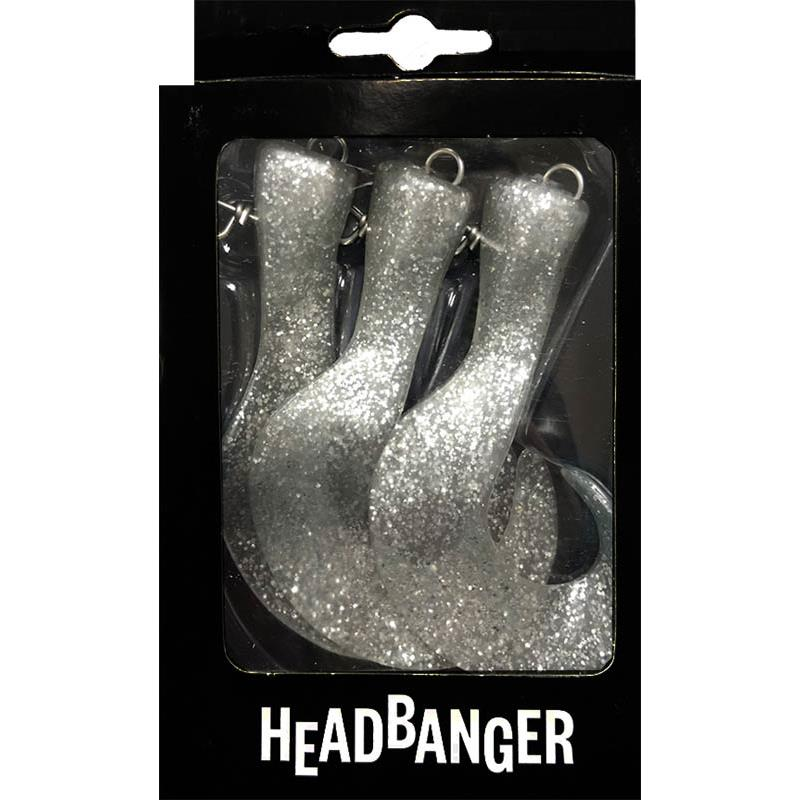 Lures HeadBanger TAIL REPLACEMENT TAILS SILVER GLITTER
