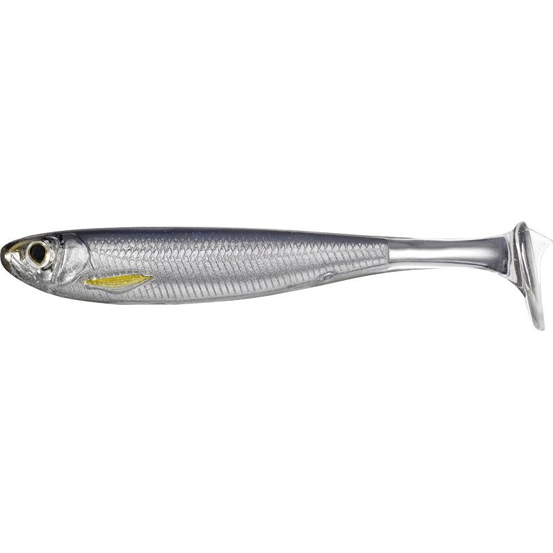 Lures Livetarget SLOW ROLL SHINER SWIMBAIT 8.5CM SILVER SMOKE