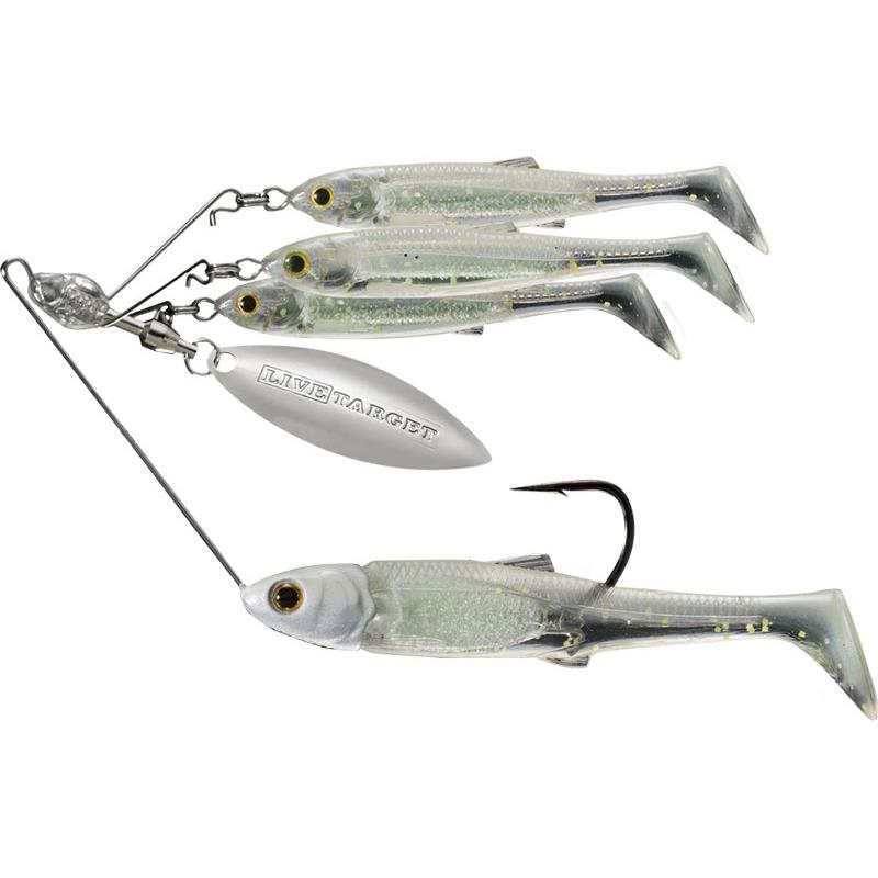 BAITBALL SPINNER RIG MEDIUM 14G SMOKE MYLAR MINNOW