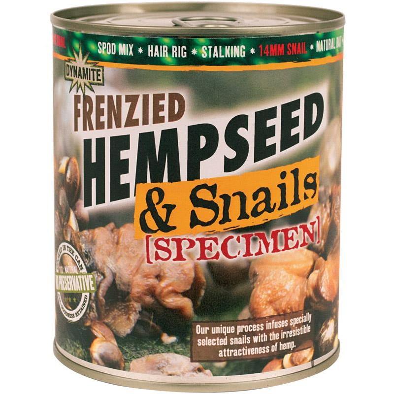 GRAINE PREPAREE DYNAMITE BAITS FRENZIED HEMPSEED - Snails Specimen - 700g