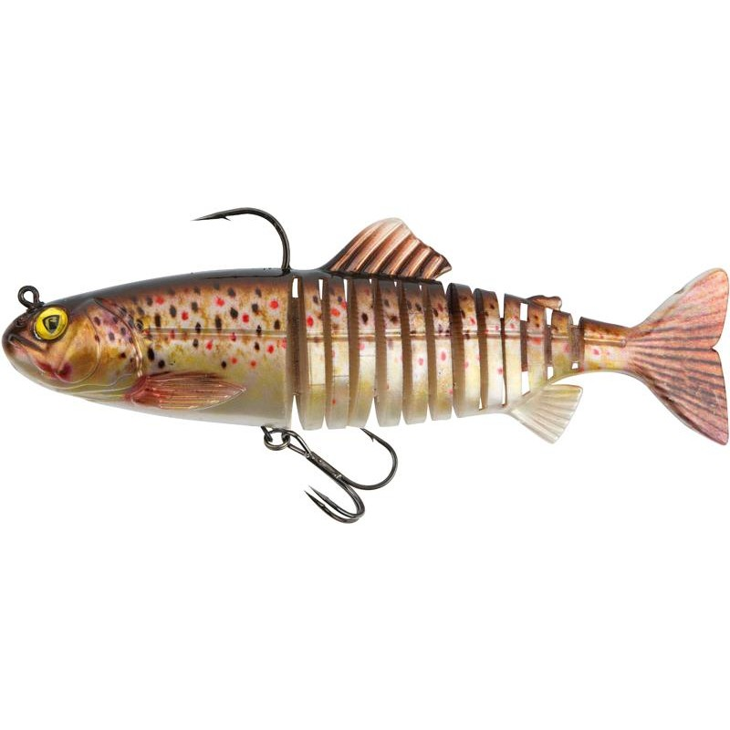 LEURRE SOUPLE ARME FOX RAGE JOINTED REPLICANT - 18CM - Super Natural Brown Trout