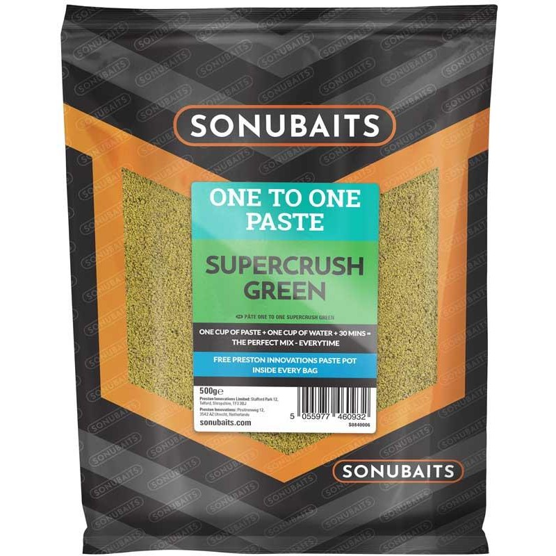 PATE D'ESCHAGE SONUBAITS ONE TO ONE PASTE - Supercrush Green