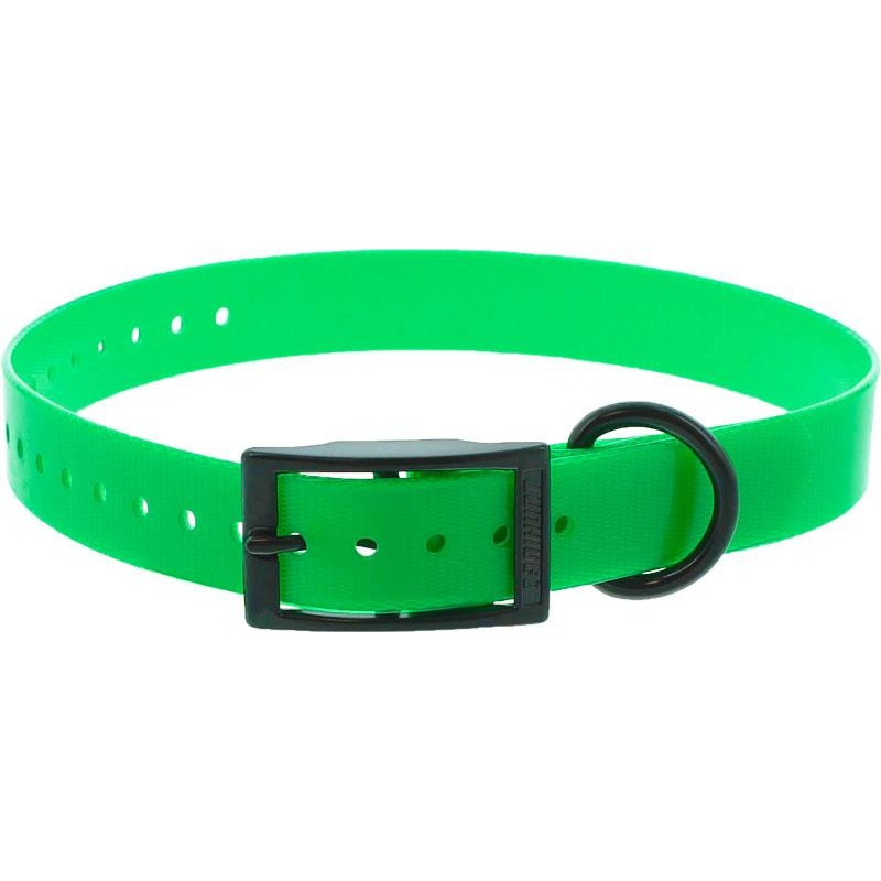 COLLIER CHIEN CANIHUNT XTREME POLYURETHANE BOUCLE DOUBLE - Vert