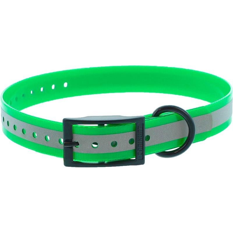 COLLIER CHIEN CANIHUNT XTREME REFLECHISSANT POLYURETHANE BOUCLE DOUBLE - Vert