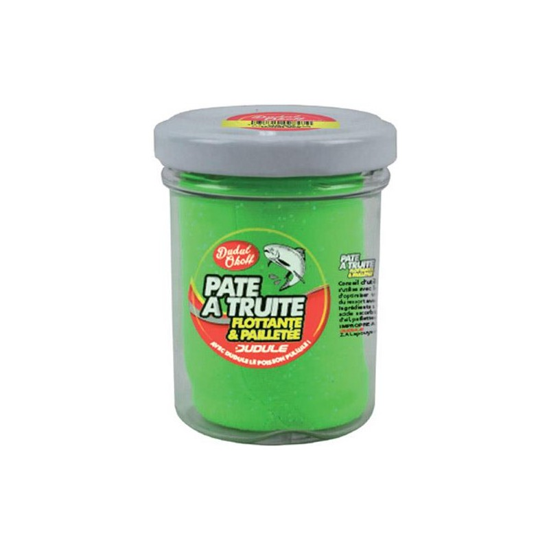 Baits & Additives Dudule PATE A TRUITE PAILLETEE VERT
