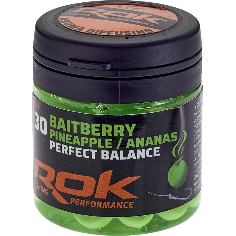 Baits & Additives Rok Fishing BAITBERRY PERFECT BALANCE BAIE ARTIFICIELLE + TREMPAGE VERT