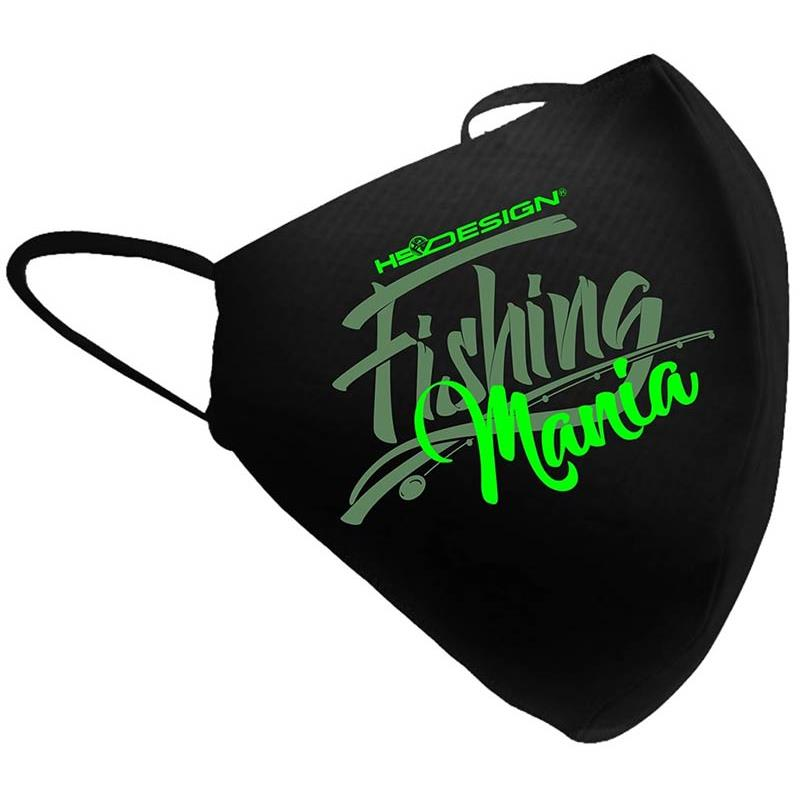 MASQUE DE PROTECTION EN TISSU HOT SPOT DESIGN FISHING MANIA - Vert