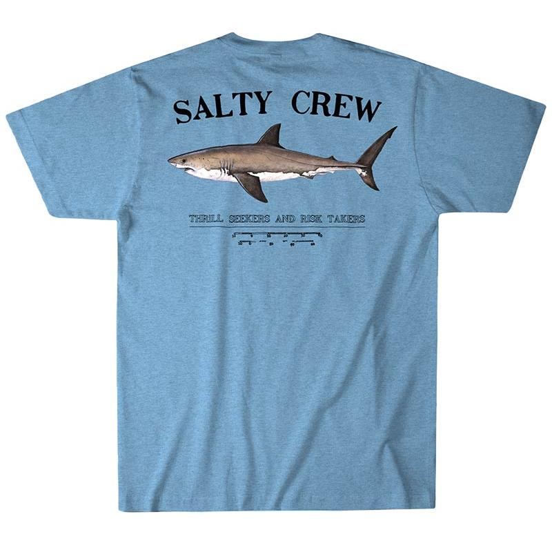 TEE SHIRT MANCHES COURTES HOMME SALTY CREW BRUCE PRENIUM S/S TEE - BLEU