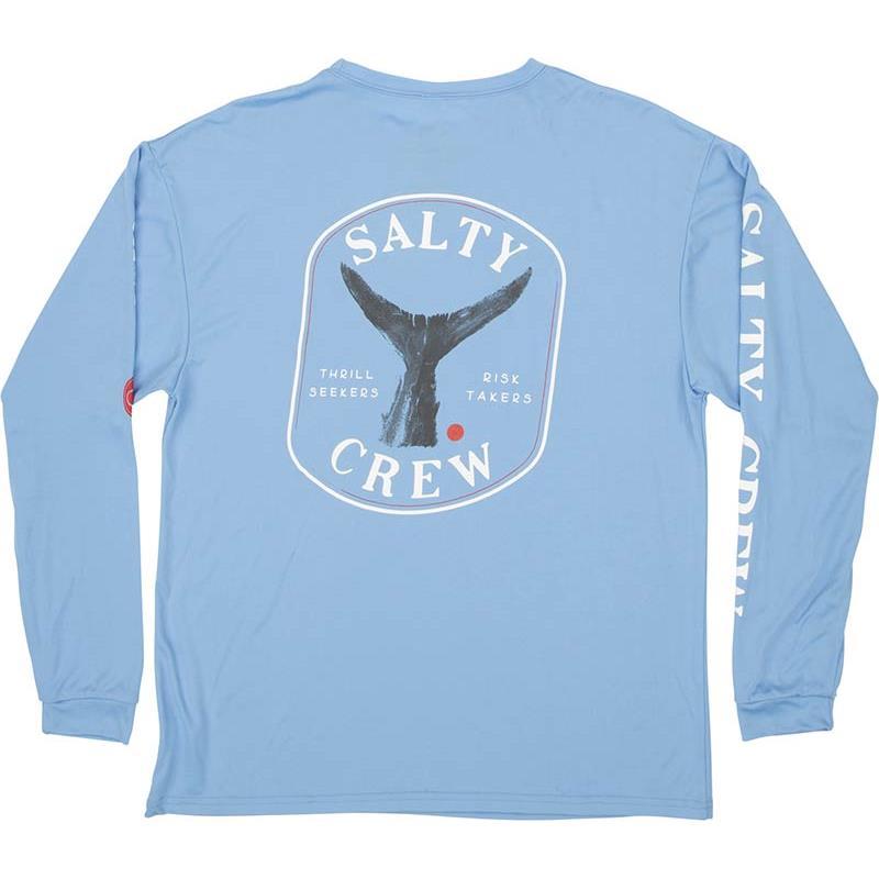 Apparel Salty Crew FISHSTONE L/S TECH TEE BLEU XS