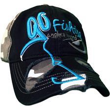 MAN CAP HOT SPOT DESIGN GO FISHING