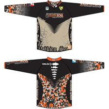 MAN LONG-SLEEVED T-SHIRT VOLKIEN - ORANGE CAMO