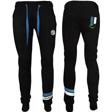 MAN PANTS HOT SPOT DESIGN HSD WITH PIQUET STRIPES BLUE - BLACK