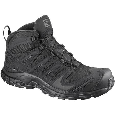 MAN SHOES SALOMON XA FORCES MID - BLACK