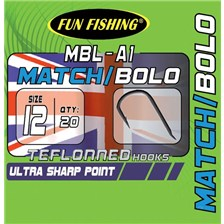 MATCH HOOK FUN FISHING MBL-A1 - PACK OF 20