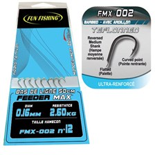 MATCH READY-RIG WITH HAIR FUN FISHING FMX-002 - PACK OF 8