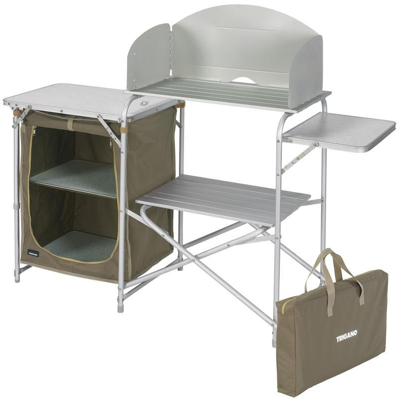 meuble cuisine trigano desserte beige marron. Black Bedroom Furniture Sets. Home Design Ideas