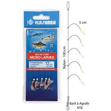 MICRO FEATHER RIG FLASHMER MICRO LARVES - PACK OF 10